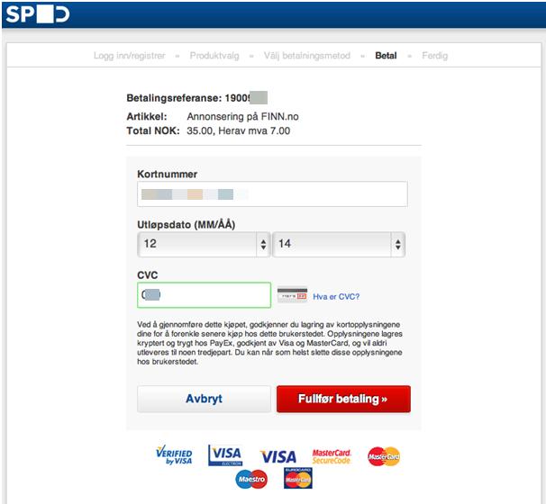 sikker betaling finn kontaktannonse på nett